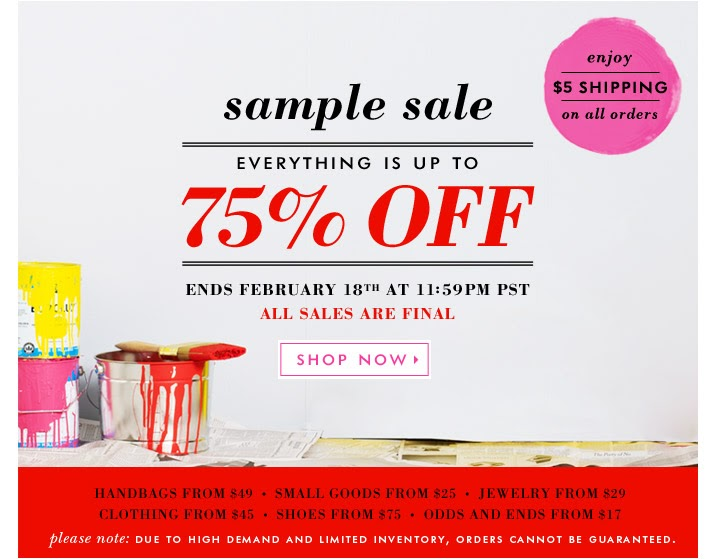 Maryland Pink And Green Kate Spade Sample Sale