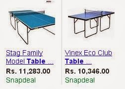 table tennis table cost