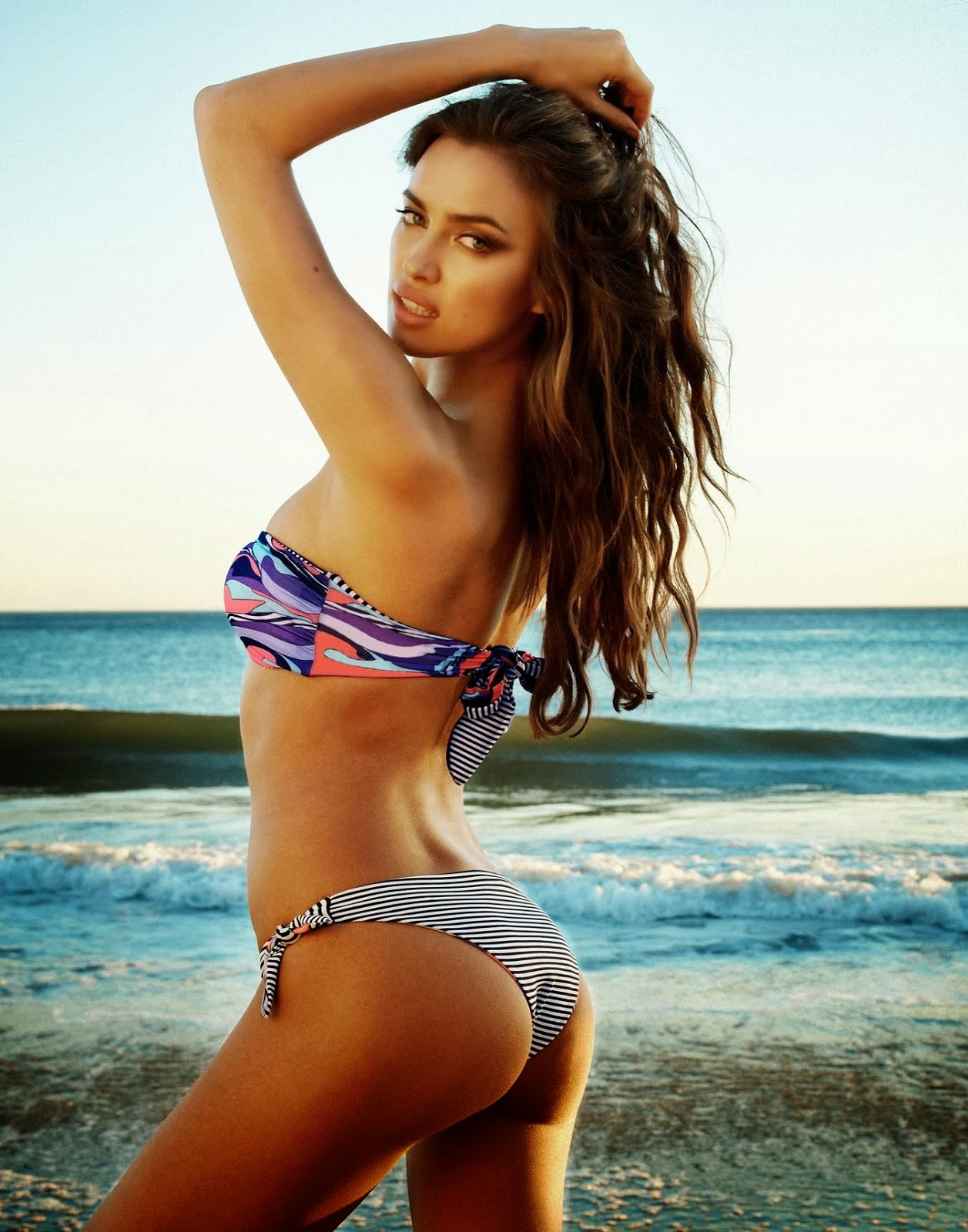 Irina Shayk Sexy Round Ass Beach Bunny Bikini Photoshoot ...