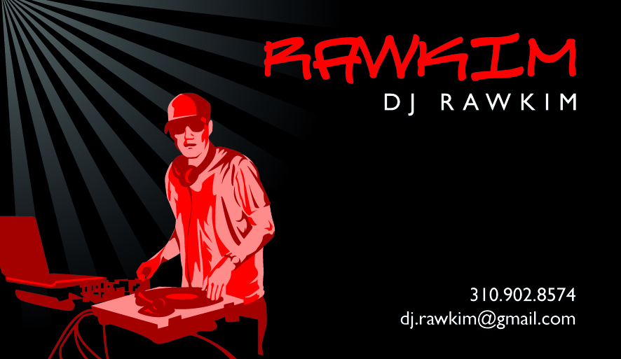 Ccins design business card dj rawkim business card dj rawkim reheart Choice Image