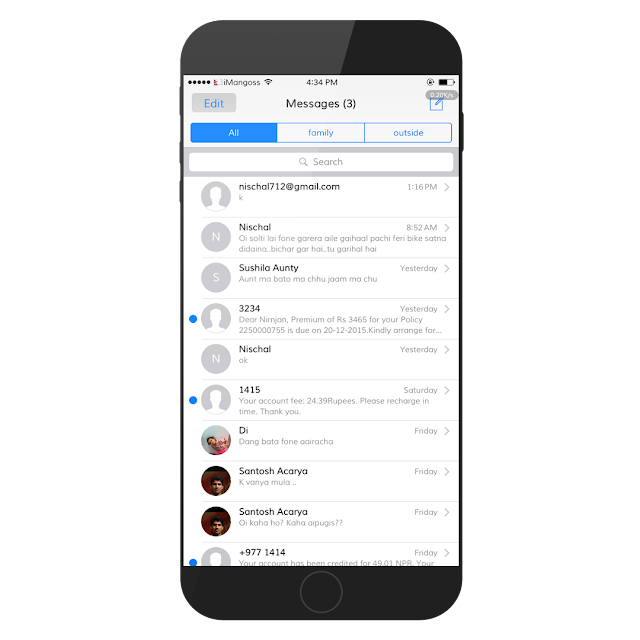 We have a number of messages & attachments in our message box daily. It is quite difficult to search any previous important text messages by searching or scrolling one by one to find particular sms you need it.