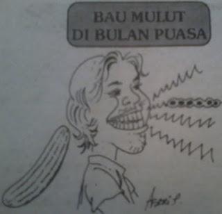 gambar ilustrasi bau mulut