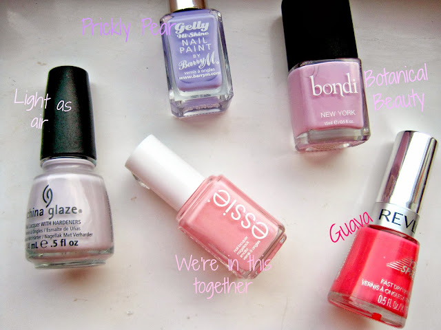 china glaze light as air revlon guava essie we're in this together bondi botanical beauty barry m prickly pear pink purple lilac gradient ombre nails swatches manicure