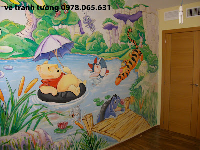 vẽ tranh tường,vẽ tranh tường mầm non