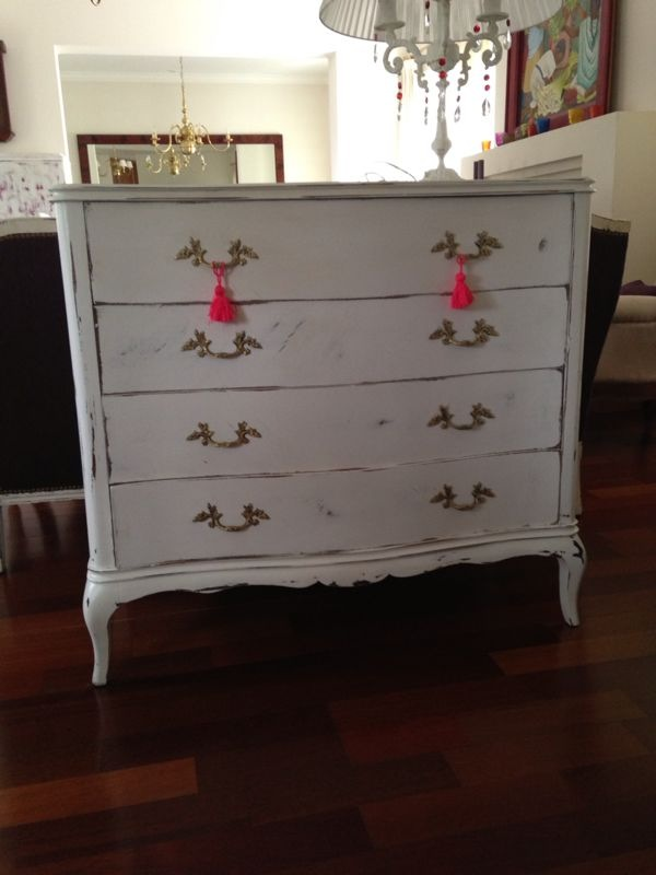 Vintouch muebles reciclados pintados a mano comodas - Comodas antiguas blancas ...