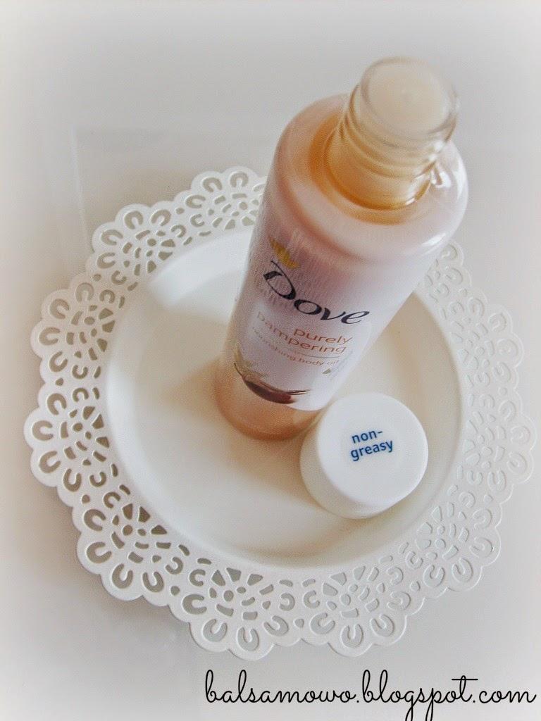 Dove: Purely Pampering Suchy olejek do ciała Masło shea i wanilia