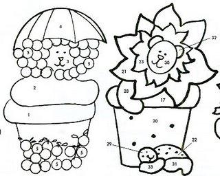 Bichinhos de feltro - moldes