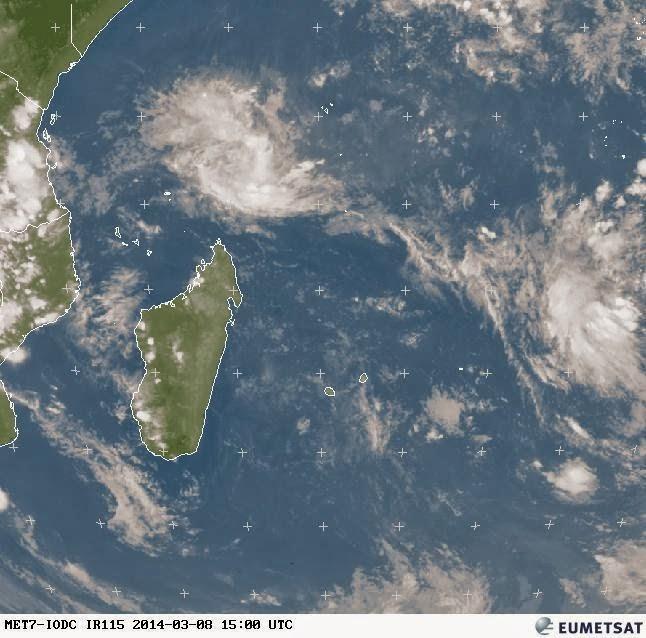 Image satellite météo réunion 08/03/2014