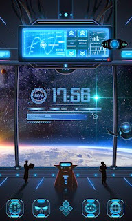 Screenshots of the Space Trip GO Dynamic for Android mobile, tablet, and Smartphone.