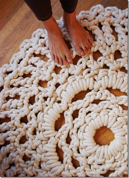 The Wool Acorn: Crochet Rugs - Doily Rugs