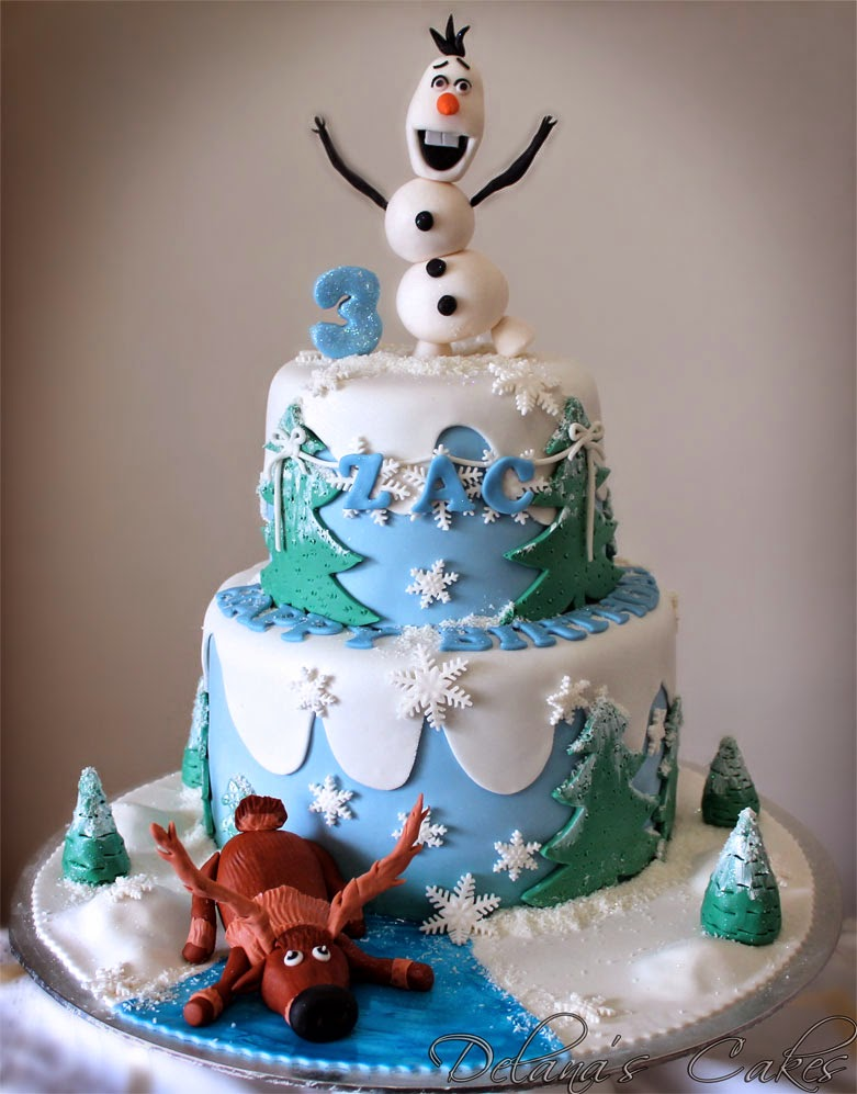 Frozen Themed Cake Design : Delana s Cakes: Frozen Themed Cake