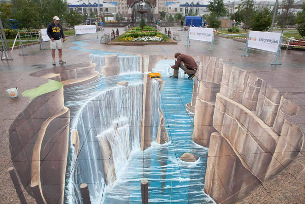 The wallpapers 3d street painting for 3d mural art