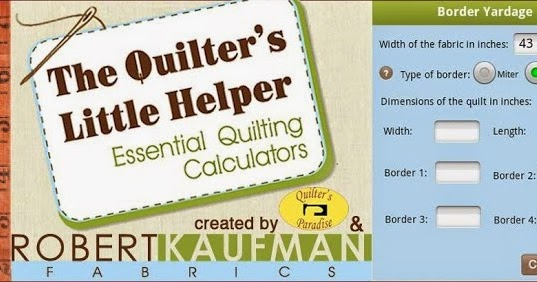 Quilt Border Calculator Barbara Huber D...