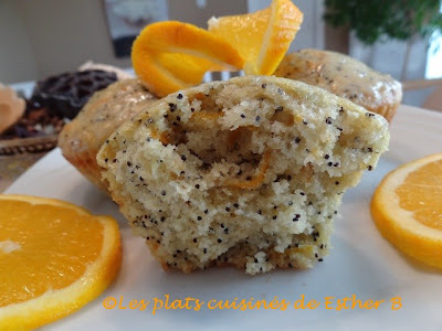 Muffins orange et graines de pavot