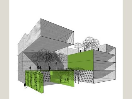 Modern buildings block 36 egypt for Void architecture definition