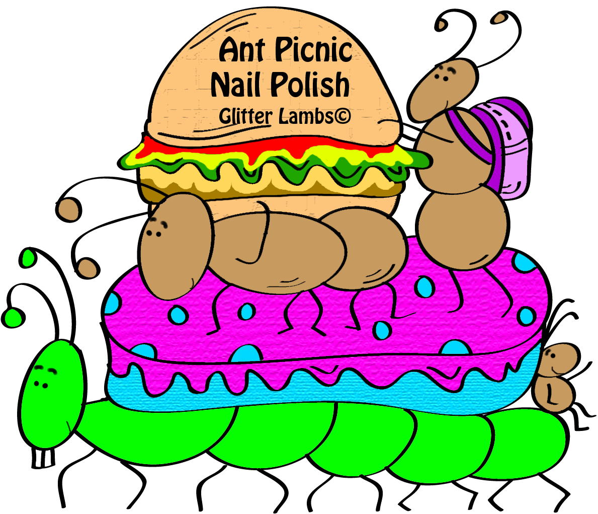 Ant Picnic Glitter Nail Polish