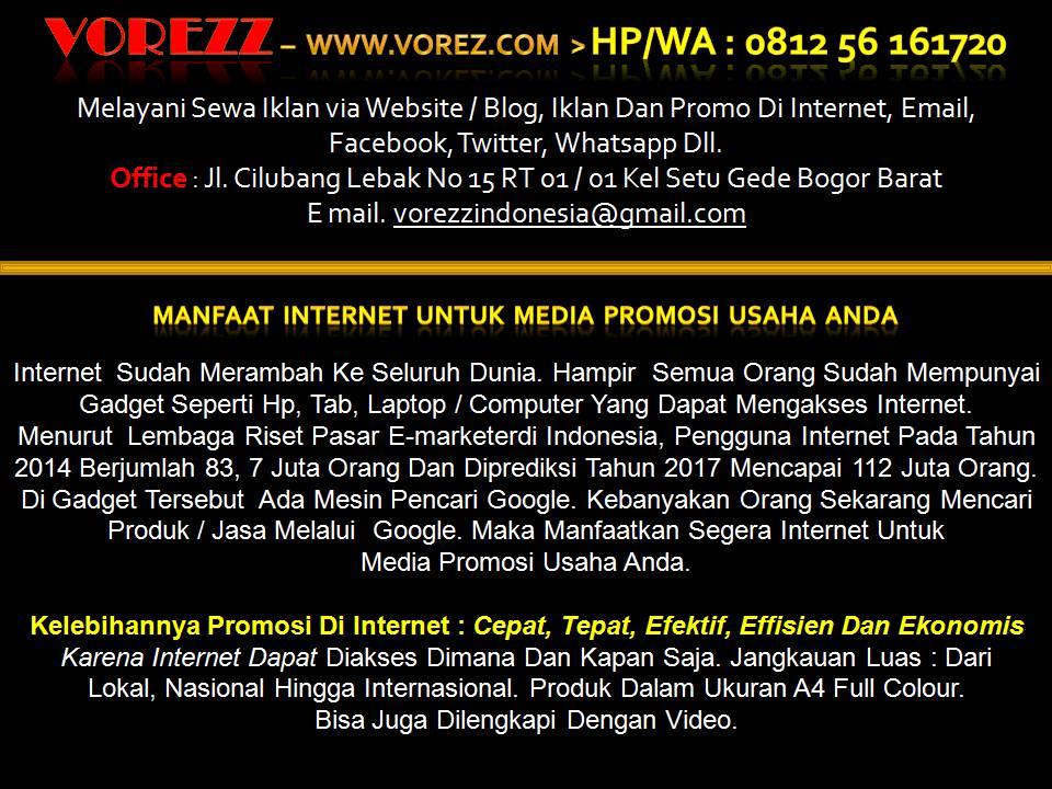VOREZZ – BOGOR Jawa Barat www.vorezz.com - Jasa Pembuatan Website