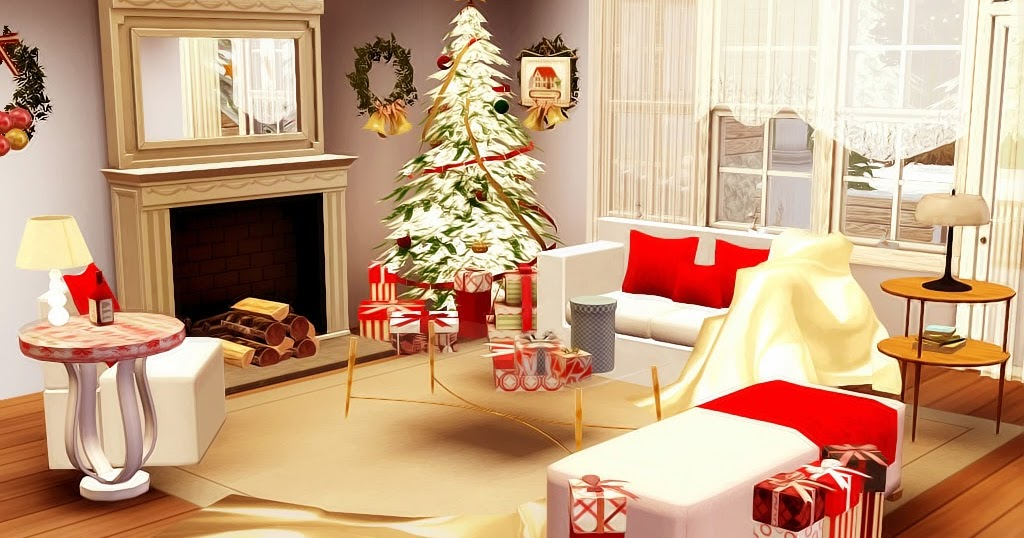 My Sims 3 Blog Red Christmas Living Room Set By Lory Story