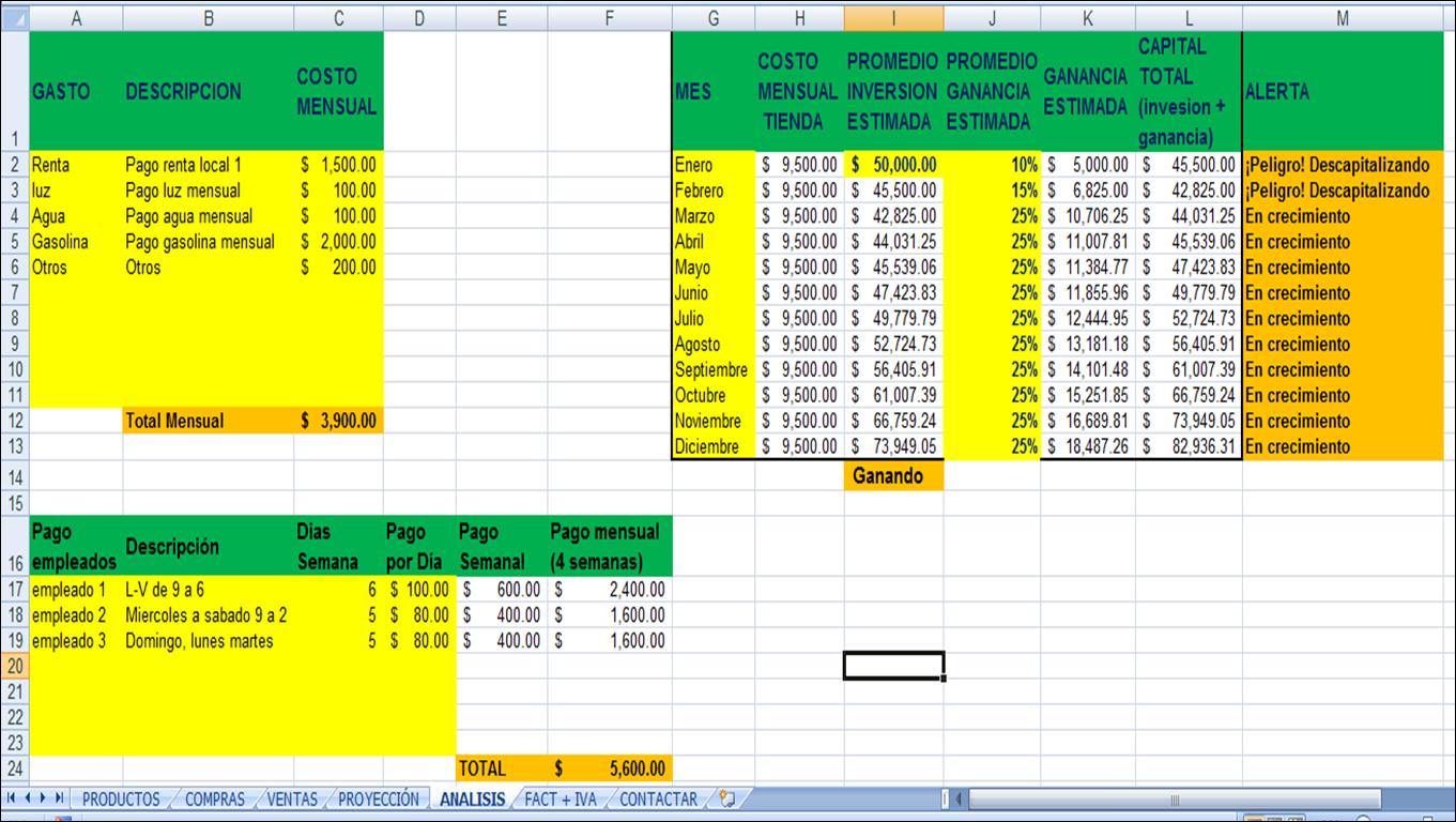 formato para factura en excel