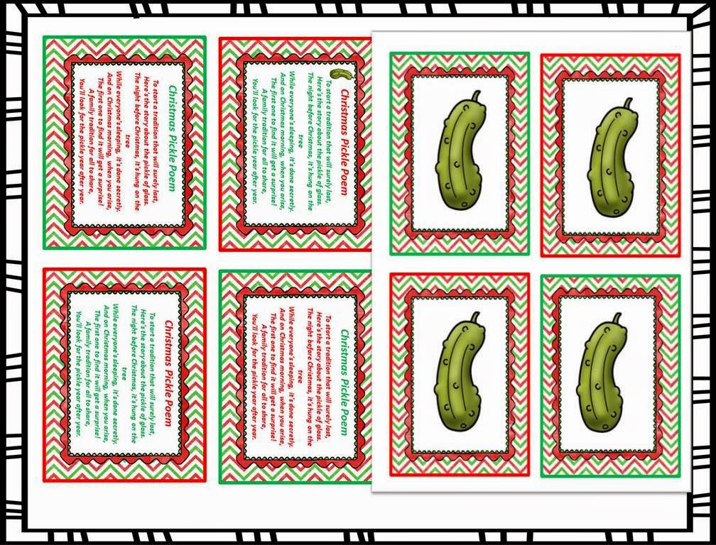 graphic regarding Christmas Pickle Story Printable identified as TheBeezyTeacher: Have been within a Pickle!