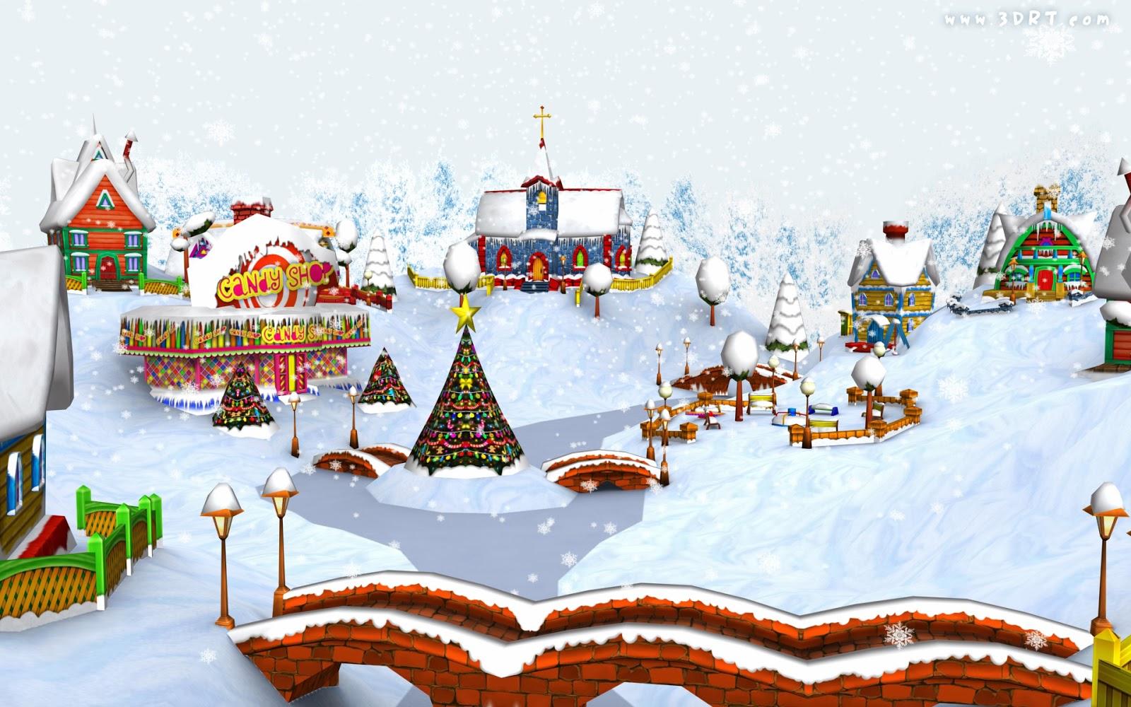 Snowy christmas village hd wallpapers blog - Christmas village wallpaper widescreen ...