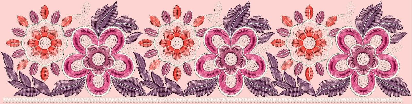 Embdesigntube Flower Lace Border Embroidery Designs