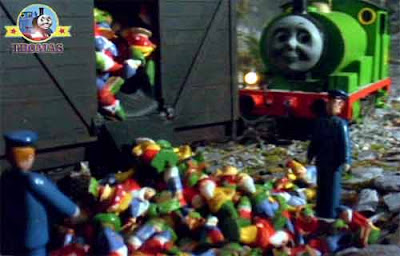 Sodor Thomas the tank engine Percy the train and the haunted spooky mine ghostly garden trick gnomes.jpg