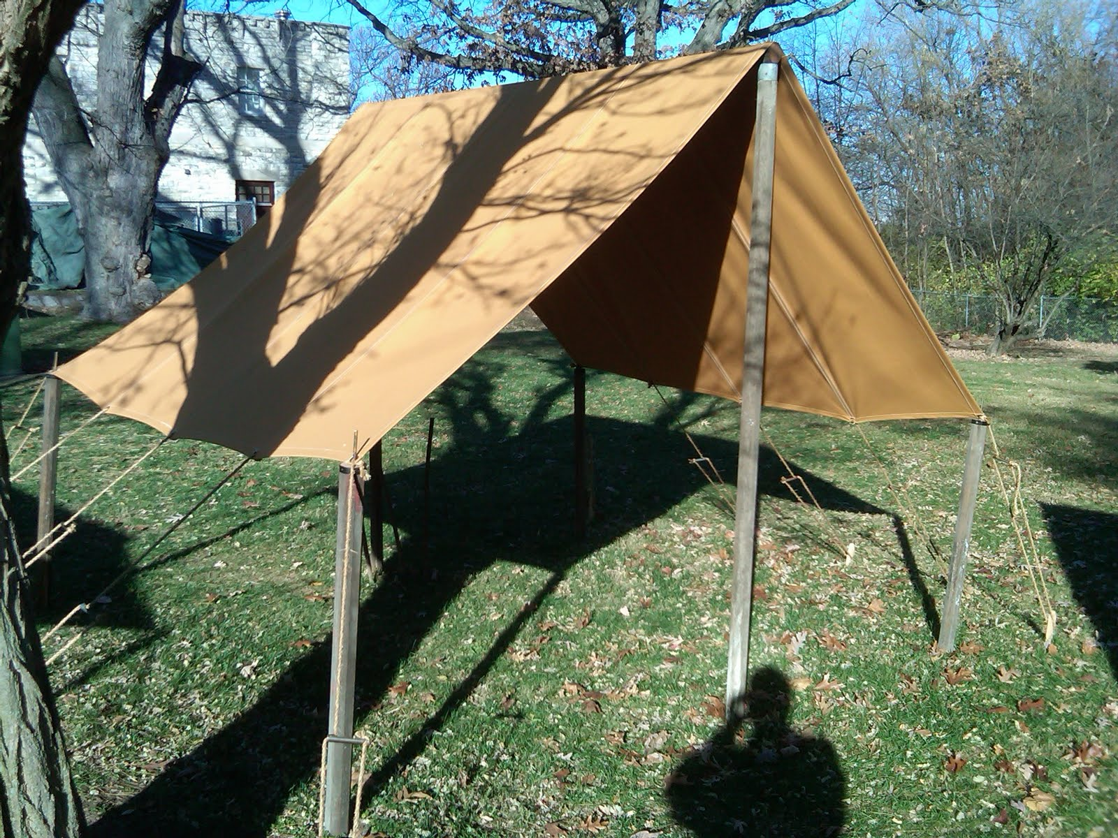 1916 Small Wall Tent WWI Small Fly & World War One Tents from Armbruster | Armbruster Tent Maker