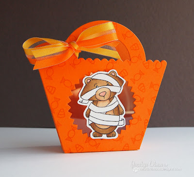 Mummy Bear Halloween treat bag card byJocelyn Olson