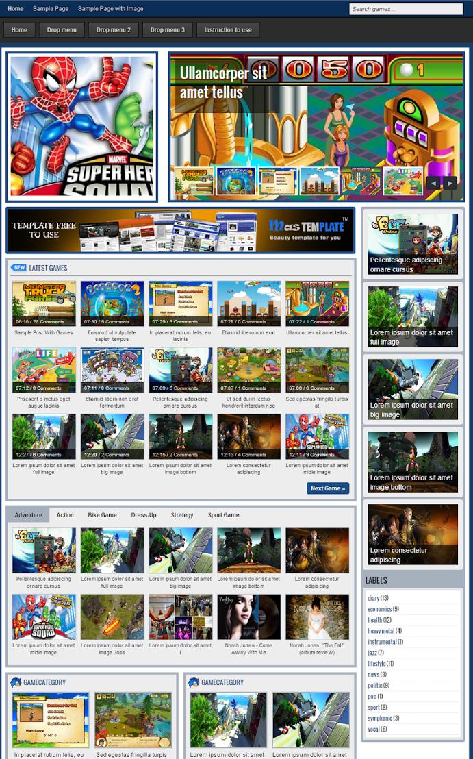 Johny Coba Dulu - Templates dành cho blog làm Game
