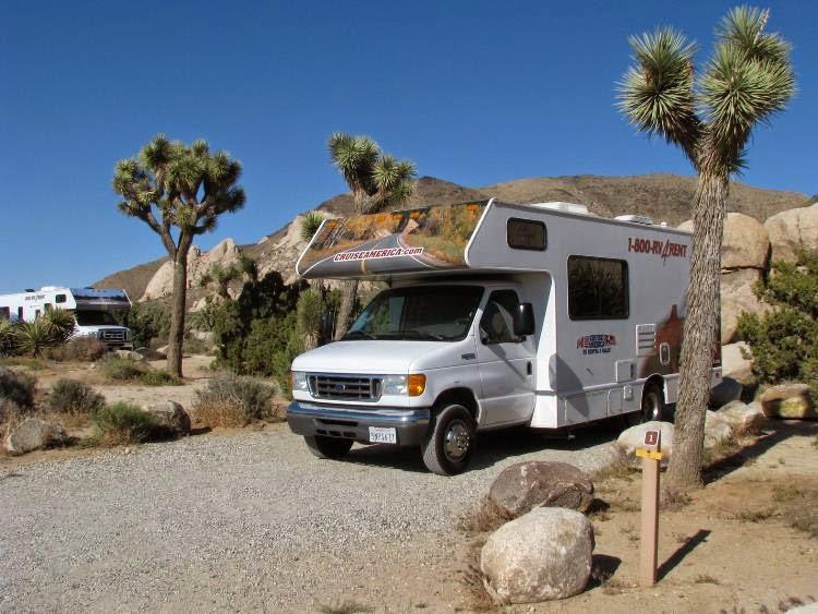 Camping i Joshua Tree National Park