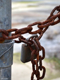 rusted links