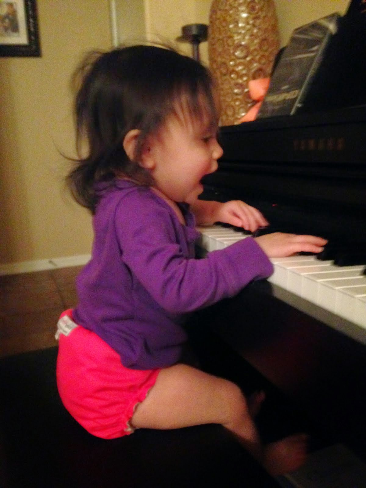 Pianist in the making - January 2014