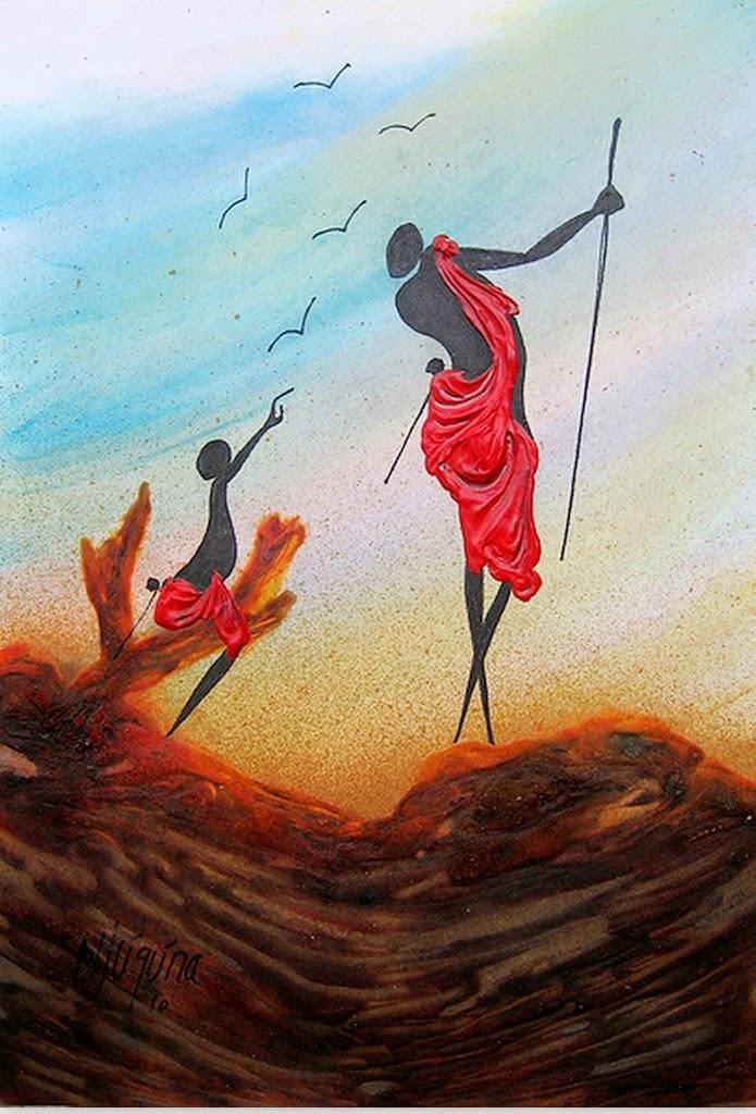 africanas-pintadas-al-oleo