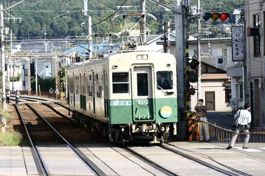 京福電気鉄道デオ600形電車 - Ja...