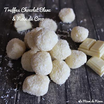 Illustration Truffes Chocolat Blanc & Noix de Coco