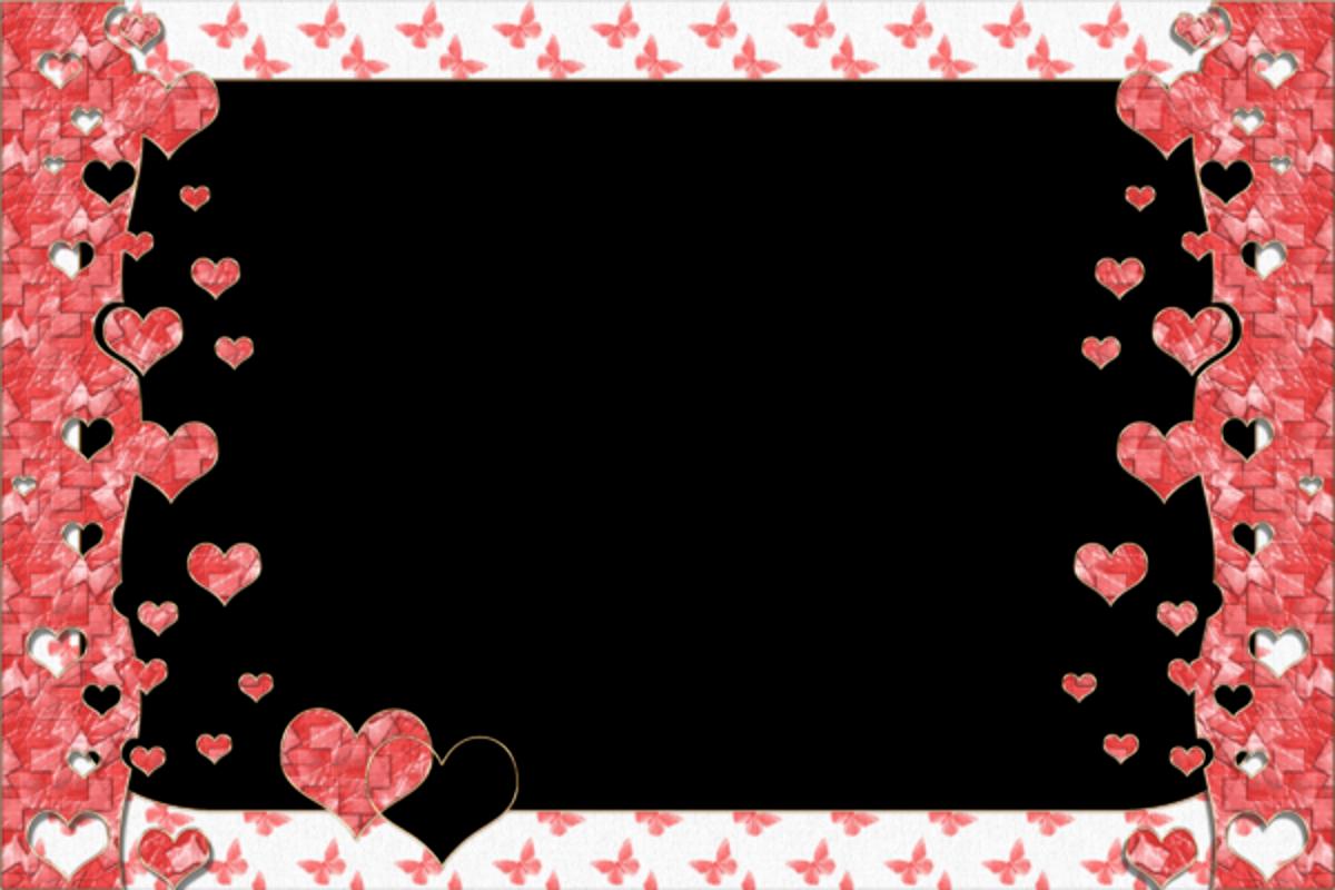 Marcos con corazones de amor en color rosa marcos gratis - Marco de fotos ...