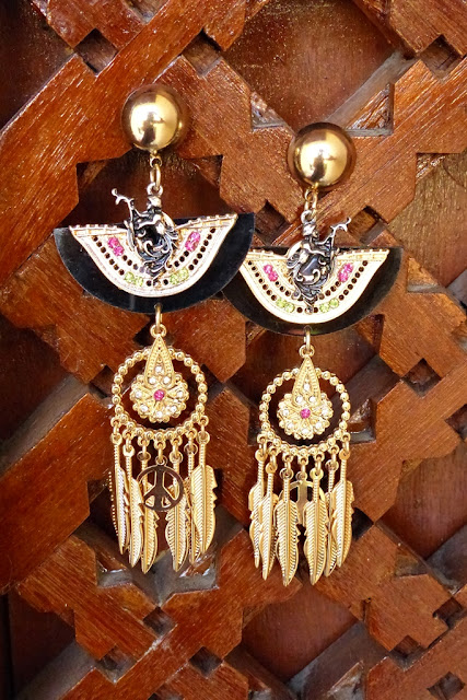 Egyptian inspired earrings
