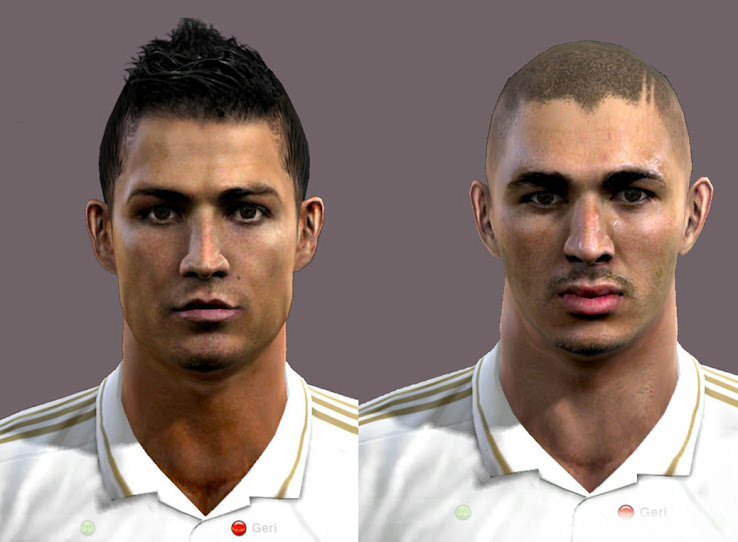 Benzema & Ronaldo Faces by Emre zel
