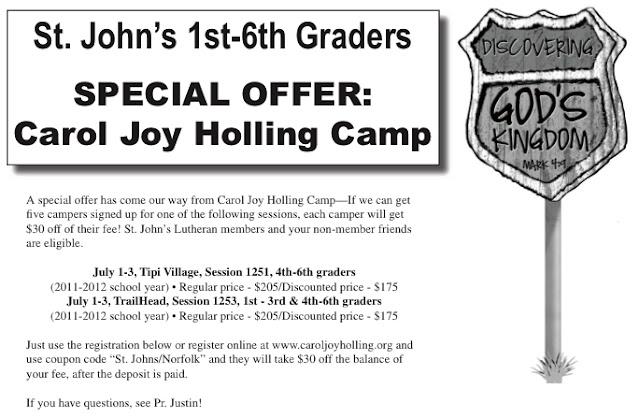 St johns lutheran church elca norfolk nebraska may 2012 special offer carol joy holling camp fandeluxe Image collections
