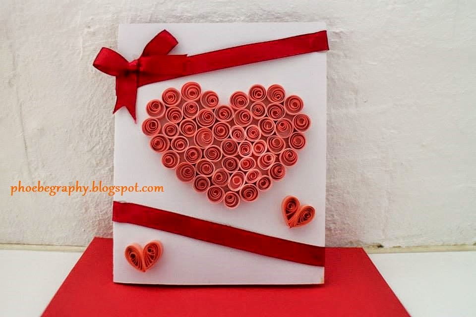 How To Make Paper Quilling Cards Part - 28: Heart Paper Quilling Card