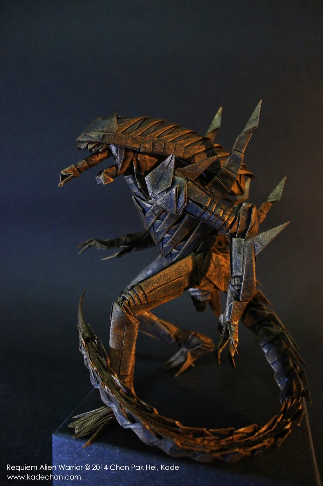 Kade chan origami blog origami requiem alien origami requiem alien warrior jeuxipadfo Images