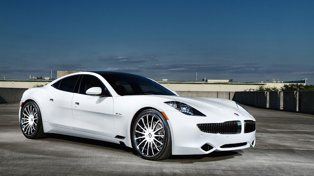 Fisker white car HD Wallpaper