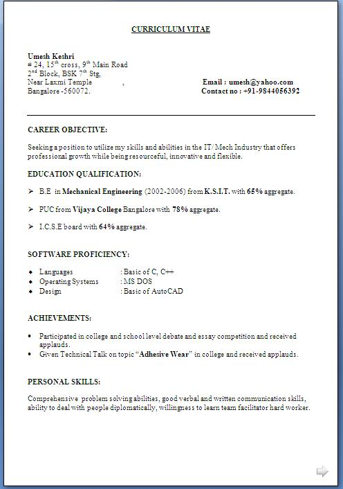 free resume templates sample resume format image jpg sample it professional resume resume and resume templates