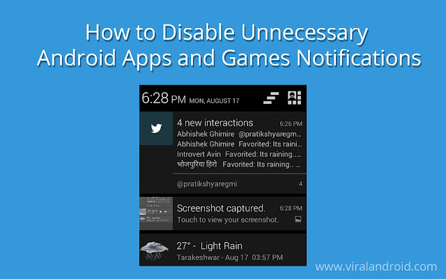 How to Disable Unnecessary Notifications of Android Apps and Games