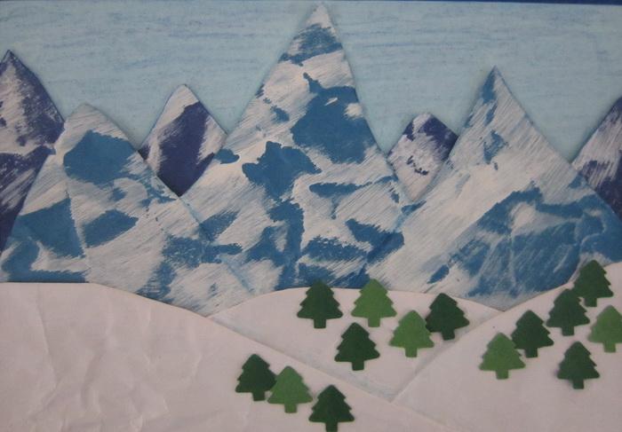 Как сделать горы поделка