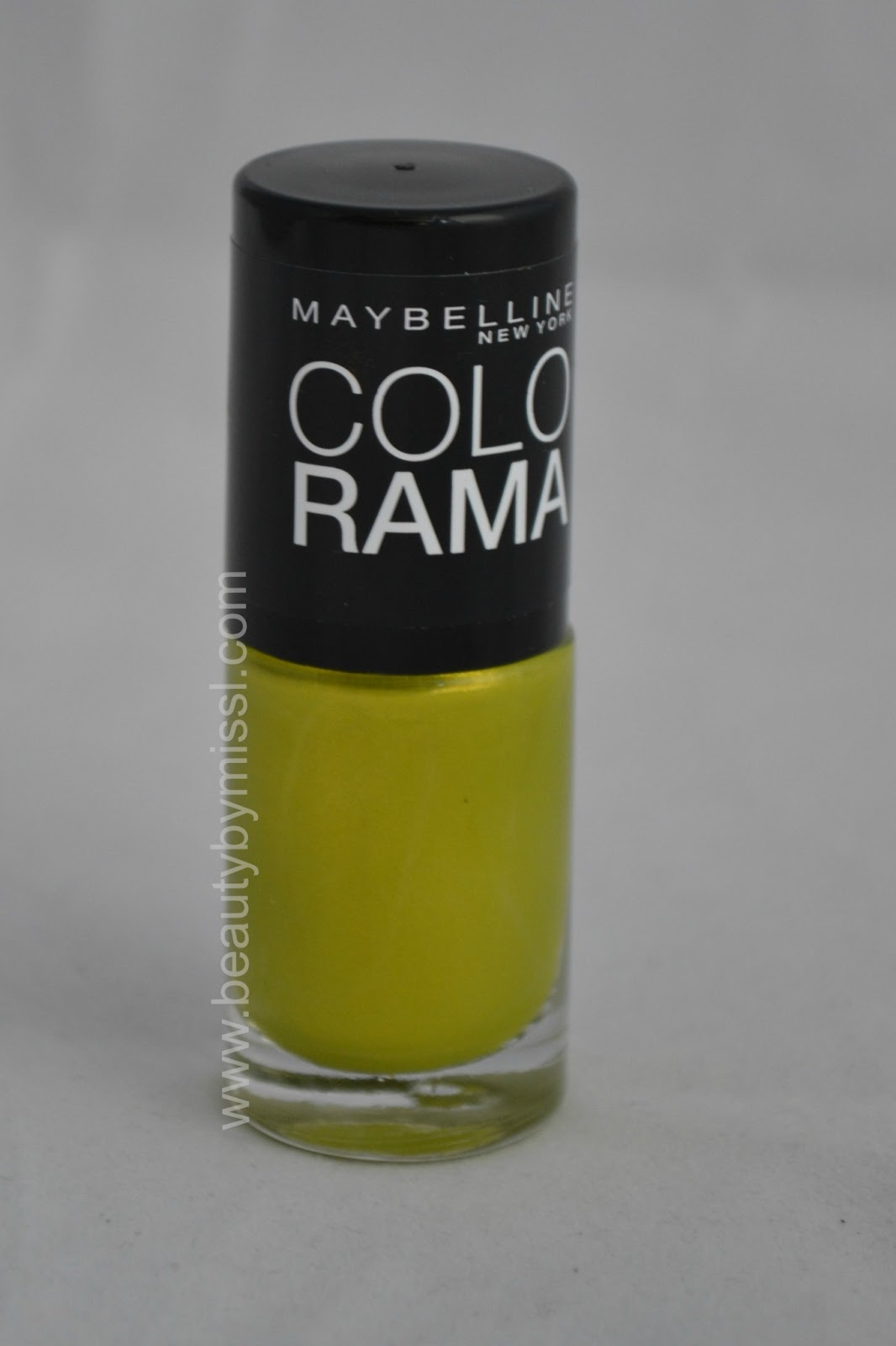 yellow green nail polish