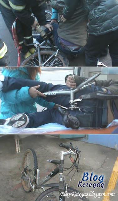Tempat duduk basikal patah tertikam kanak-kanak