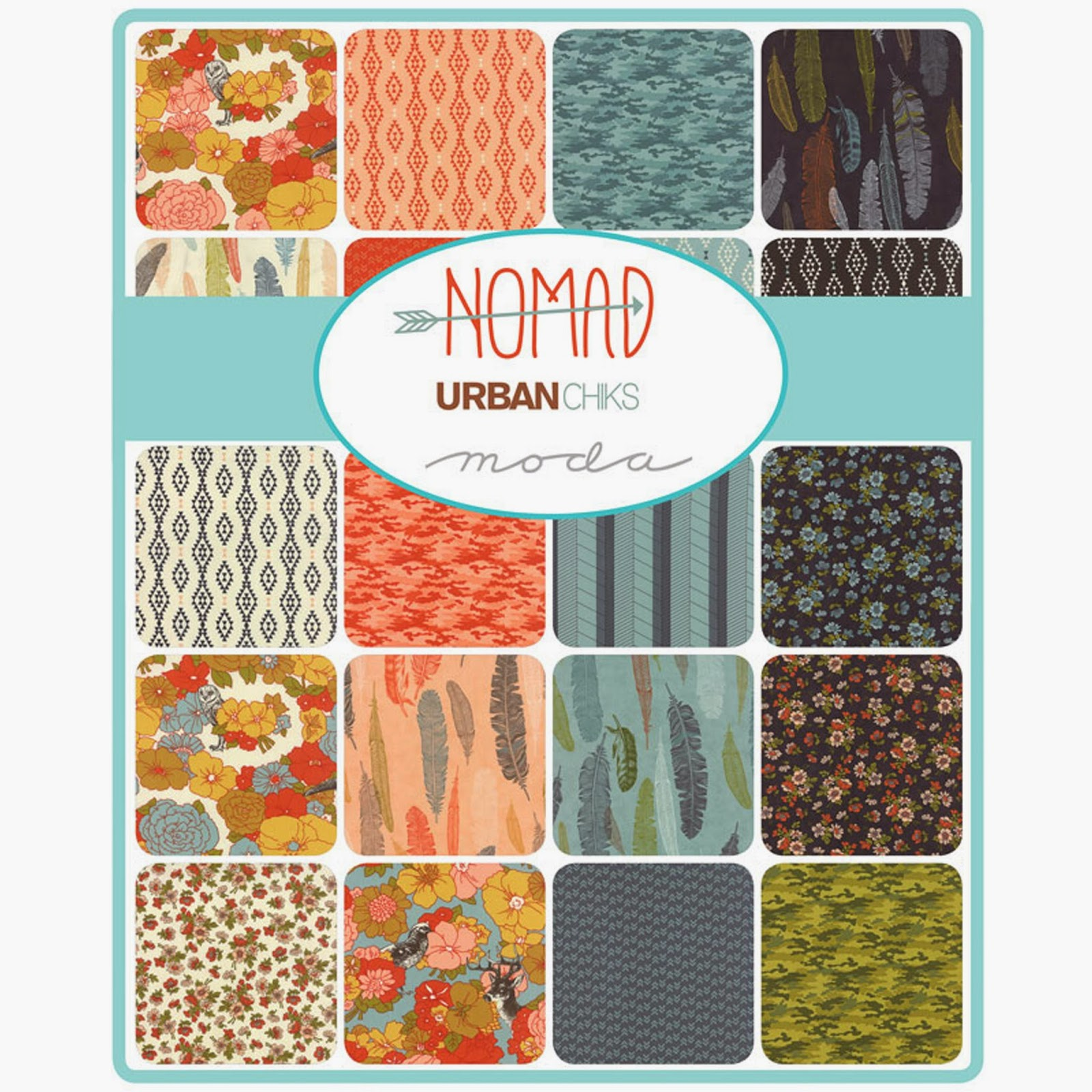 Moda NOMAD Fabric by Urban Chiks for Moda Fabrics