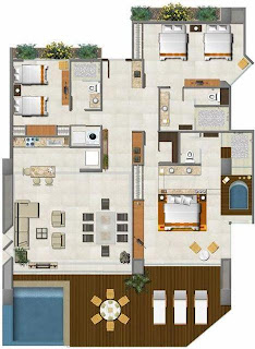 Planos de casas modelos y dise os de casas planos de for Planos de casas de 3 recamaras